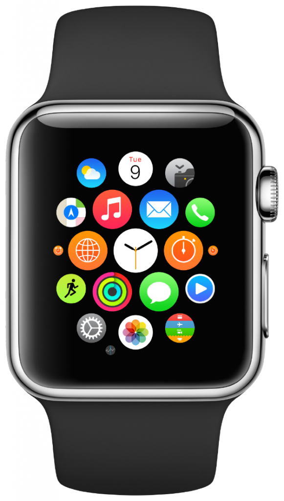 Меню приложений Apple Watch